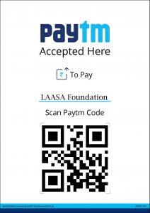 LAASA Foundation PAYTM QR Code